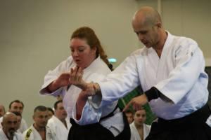 Uke for Dorin sensei, 5 dan Aikikai Aikido at the Japanese Festival Seminar. March 2015, Bucharest-Romania.
